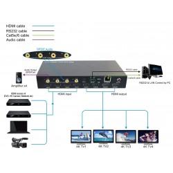 4x4 - Matriz 4K HDMI 2.0 HDCP 2.2 i Control IP (4 entradas y 4 salidas)
