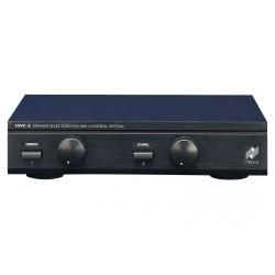 Selector de altavoces estéreo (2 pares) con controlador de volumen