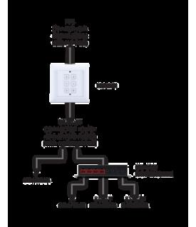 Teclado de Control IP de pared (empotrable)  Keypad Control   System 6 Botones