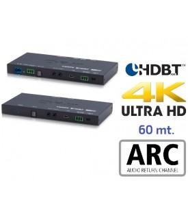 Extensor 4K HDMI - Audio - HDBaseT - 60 mts.