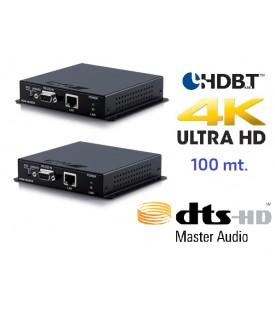 Extensor 4K HDMI - Audio DTS - HDBaseT - 100 mts.