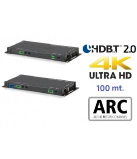 Extensor 4K HDMI - Audio - HDBaseT 2.0 - 100 mts.