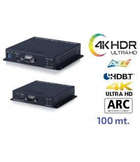 Extensor 4K HDR - Audio - HDBaseT - 18Gbps - 100 mts.
