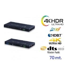 Extensor 4K HDR (6G) - OAR Audio - HDBaseT - 18Gbps - 70 mts.