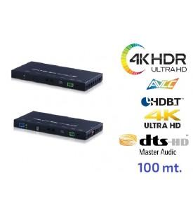 Extensor 4K HDR (6G) - OAR Audio - HDBaseT - 18Gbps - 100 mts.