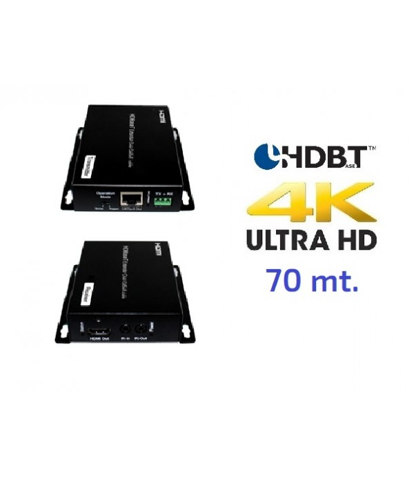 Extensor de señal HDMI  4K UHD con PoH - 60 m. HDBaseT