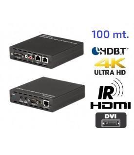 Extensor 4K HDMI - DVI - HDBaseT - 100 mts.