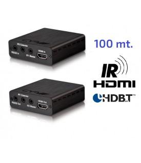 Extensor HDMI 4K - HDBaseT - 100 Mts.