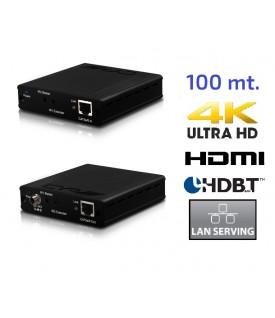 Extensor HDMI 4K simultánea - HDBaseT - LAN - PoC - 100 mts.