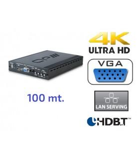 Extensor/Conmutador HDMI - VGA  HDBaseT - 100 mt.