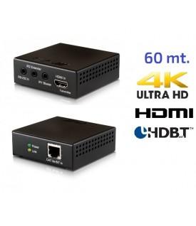 Extensor HDMI 4K - HDBaseT - POC - 60 mt.