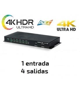 Distribuidor HDMI 4KUHD / HDR - 1x4