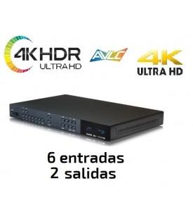 Distribuidor HDMI 4KUHD / HDR - Salida Audio y Control IP - 4x2