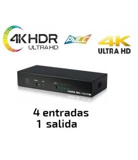 Selector HDMI 4KUHD / HDR con Control IP (4x1)