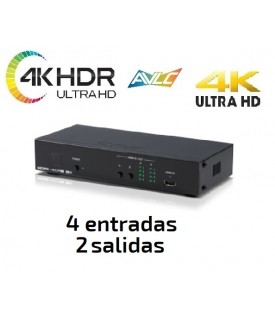 Matriz HDMI - 4KUHD / HDR y Control IP (4x2)