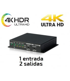 Distribuidor HDMI 4K UHD / HDR a 2 pantallas (1x2)