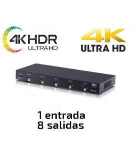 Distribuidor HDMI 4KUHD / HDR 18Gbps (6G) - 1x8