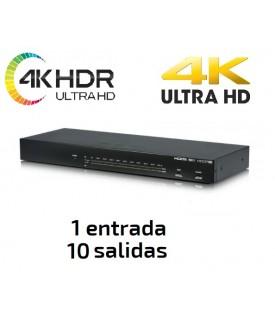 Distribuidor HDMI 4K UHD / HDR hasta 10 pantallas - 1x10