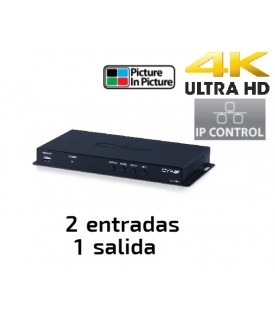Selector HDMI 4K con PiP (Picture In Picture) y Control IP