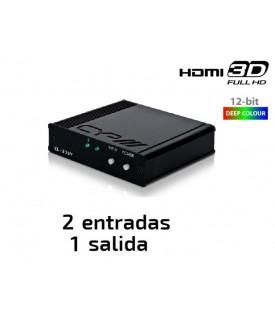 Selector HDMI (2 fuentes a 1 salida)