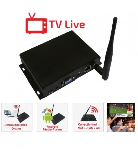 Reproductor Multimedia TV Live - Wifi/LAN