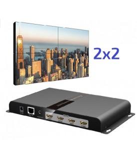 Controlador VideoWall 2X2 - HDMI y Salida de Audio