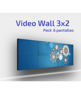 Pack VideoWall 6 pantallas 3x2