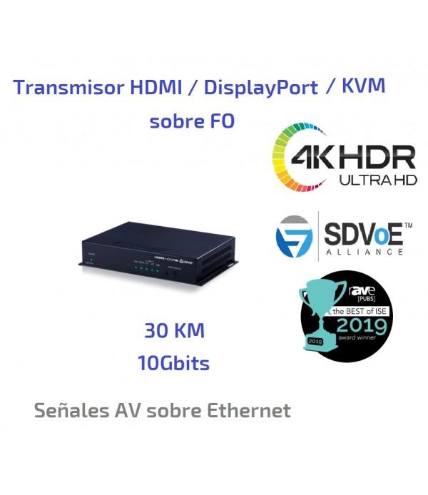 Transmisor HDMI / DisplayPort / KMV sobre FO - 30Km