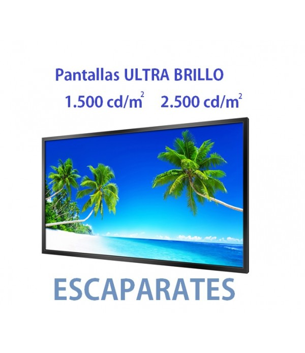 Pantalla Ultra Brillo Cartelería Digital Escaparates