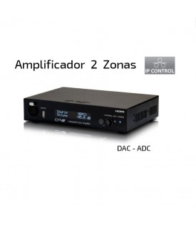 Multiroom Amplificador Audio 2 zonas - HDMI - Control IP
