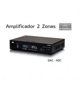 Multiroom Amplificador Audio 2 zonas - HDMI - Control IP