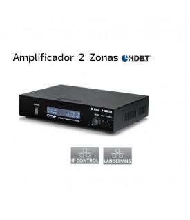 Multiroom Amplificador Audio 2 zonas HDBaseT - HDMI- Control IP