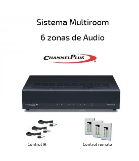 Multiroom Amplificador de audio 6 zonas (Audio Estéreo)