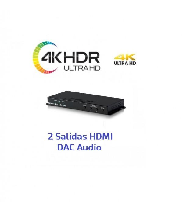 Escalador - Conversor 4K - HDR - HDCP - DAC