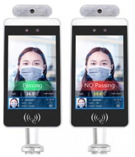 Pantalla detector temperatura corporal y reconocimiento facial