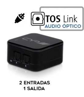 2x1 Selector Audio digital Toslink