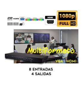 Selector Multientrada y Multiformato HDMI - VGA - RGB