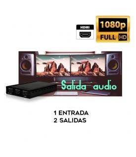 1x3 Distribuidor HDMI con salida audio
