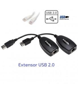 Extensor señal USB 2.0 sobre CAT6 - 30 metros