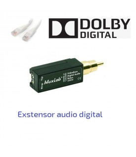 Extensor Audio Digital sobre CAT5/6 UTP
