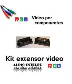 Extensor Vídeo RGB y Audio sobre CAT5 (1 fuente a 2 zonas)