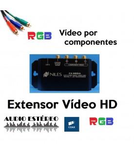 Extensor Vídeo RGB y audio digital coaxial sobre CAT5
