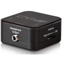 Conversor audio digital a analógico con salida auriculares