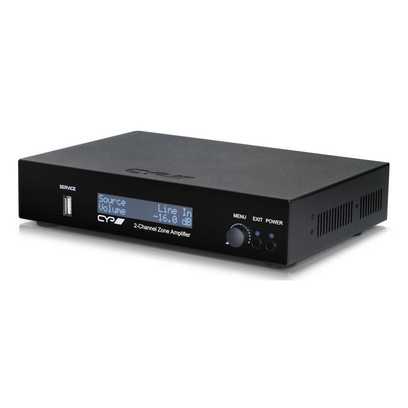Multiroom Amplificador de Audio de 2 zonas Control IP