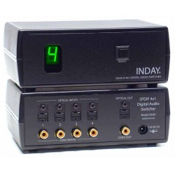 4x1 Conmutador Audio Digital Coaxial - Toslink
