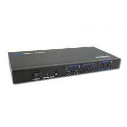 4x2 - Matriz HDMI 1080p, Control IR y salida de audio 2RCA