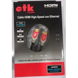 Cable ETK High Speed HDMI con Ethernet 4K