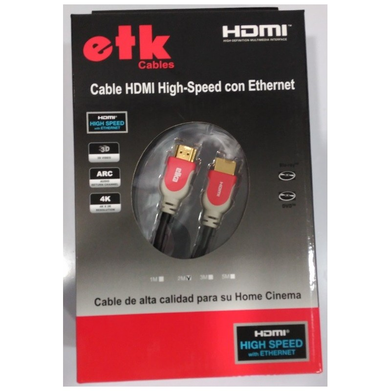 Cable ETK High Speed HDMI con Ethernet