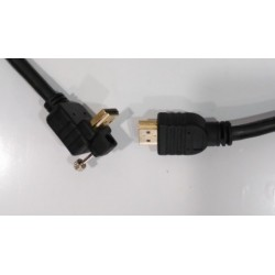Cable ETK High Speed HDMI acodado 90 grados (3 metros)
