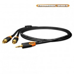 Cable RCA a Minijack HICON ERGONOMIC C2J3
